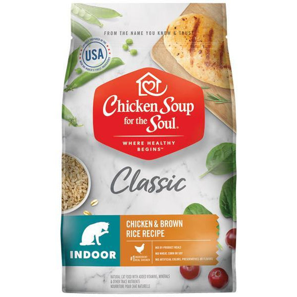 Chicken Soup For The Soul Indoor Recipe with Chicken & Brown Dry Cat Food