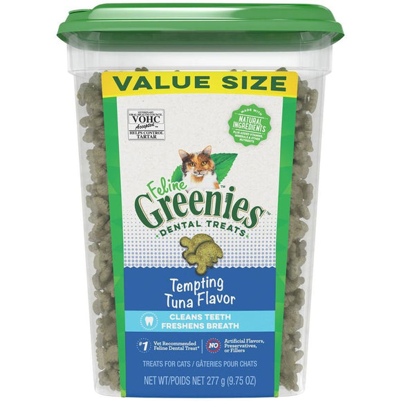 FELINE GREENIES™ Dental Treats Tempting Tuna Flavor