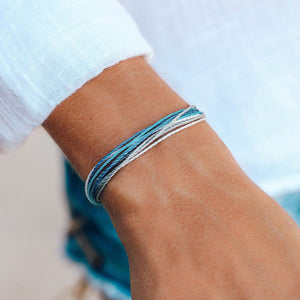 Pura Vida Alzheimer's Awareness Bracelet, Closeup