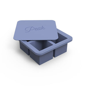Peak Blue Ice Cube Tray Open