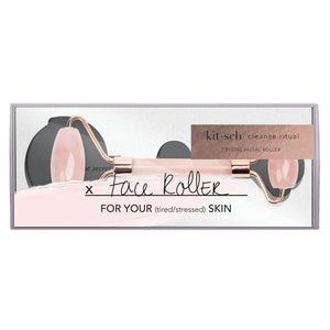 Kitsch Rose Quartz Facial Roller, Box