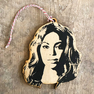 Beyonce Christmas Ornament