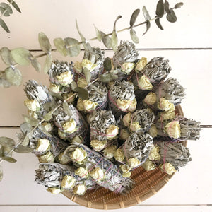 Catherine Rising Sage and Lavender Bundle in Basket
