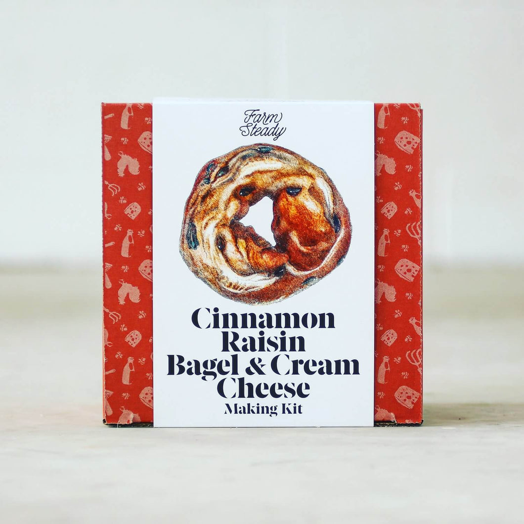 Farm Steady Cinnamon Raisin Bagel & Cream Cheese Kit