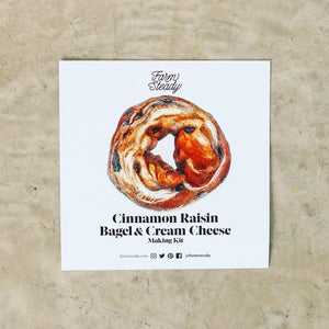 Farm Steady Cinnamon Raisin Bagel & Cream Cheese Kit, Card