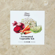Load image into Gallery viewer, Farm Steady Fermented Vegetable Kit, Card