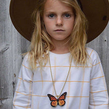 Load image into Gallery viewer, Gunner & Lux Monarch Butterfly Necklace, Wide Brimmed Hat