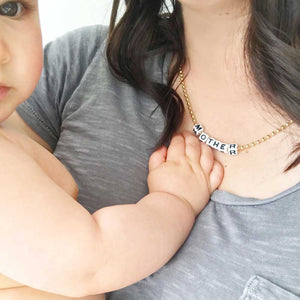 Gunner & Lux Mother Necklace, With Baby