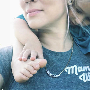 Gunner & Lux Mother Necklace, Mom with Child