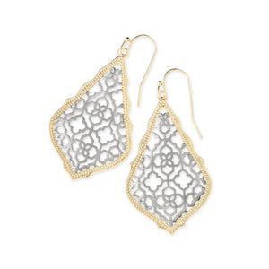 Kendra Scott Addie Earrings Silver and Gold