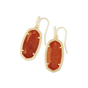 Kendra Scott Drop Earrings Gold in Goldstone