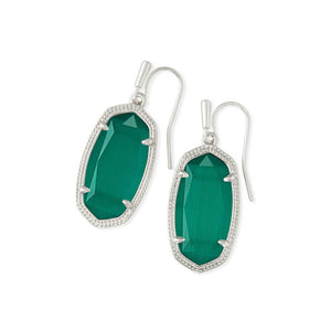 Kendra Scott Drop Earrings Silver in Emerald