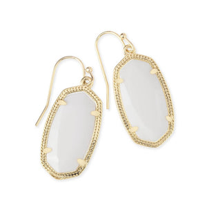 Kendra Scott Drop Earrings Gold in Mother of Pearl