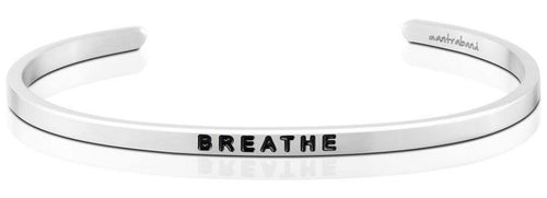 Mantraband Breathe, Silver