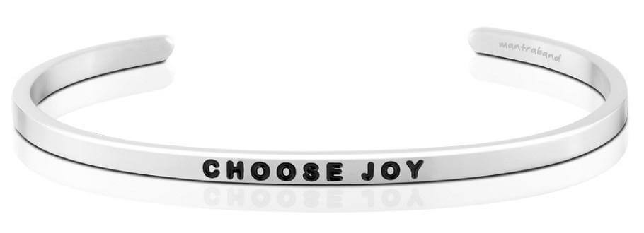 Mantraband Choose Joy, Silver