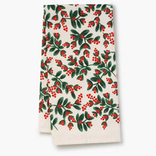 Load image into Gallery viewer, Rifle Paper Company Mistletoe Tea Towel