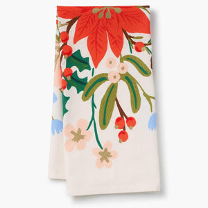 Rifle Paper Company Holiday Bouquet Tea Towel
