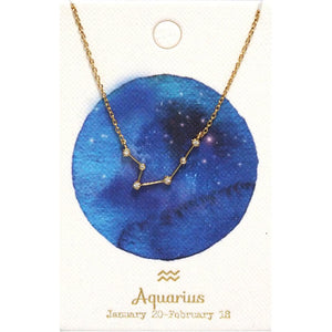 Tai Jewelry Zodiac Necklace Aquarius