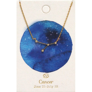 Tai Jewelry Zodiac Necklace Cancer