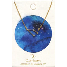 Load image into Gallery viewer, Tai Jewelry Zodiac Necklace Capricorn