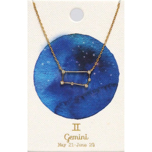 Tai Jewelry Zodiac Necklace Gemini