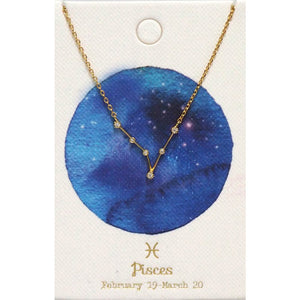 Tai Jewelry Zodiac Necklace Pisces