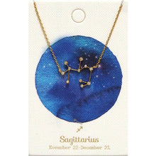 Load image into Gallery viewer, Tai Jewelry Zodiac Necklace Sagittarius