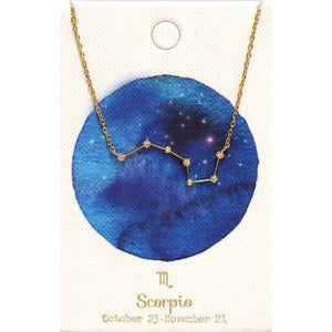Tai Jewelry Zodiac Necklace Scorpio