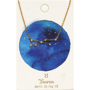 Tai Jewelry Zodiac Necklace Taurus