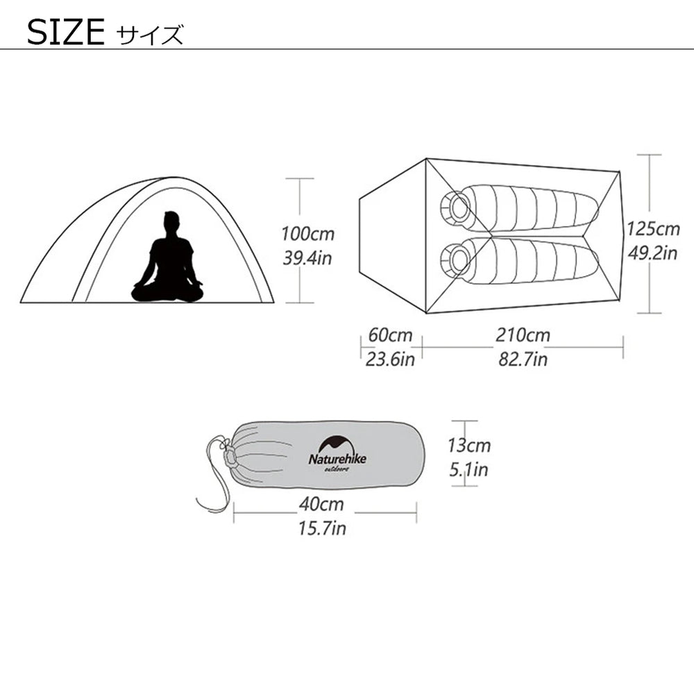 Cloud Up 2 Ultralight Tent 20D Plus