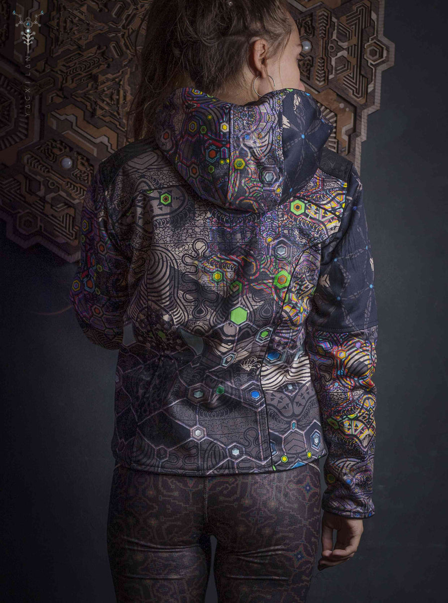 Jacket Woman / Denim All Over Digital Print _ PSYGALAK