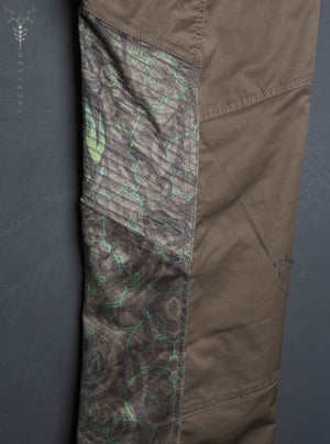 Long Pants Men ENKI Desertstorm /  Cotton Fake leather patch _ BALIWASKA - Yacxilan Artwear