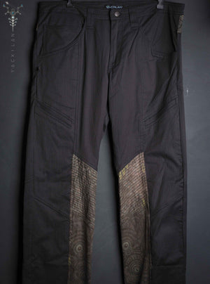 Long Pants Men  ENKI Strippy / Cotton Fake leather _ BALIHIGH - Yacxilan Artwear