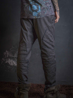 Long Pants Men NeoTokyo / Cotton Printed Grey Elves _ HAKKER STARLIENS