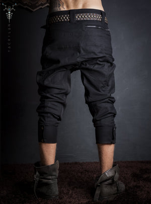 Long Pants Men Pirate / Stretchy Cotton_ BLACK VOID