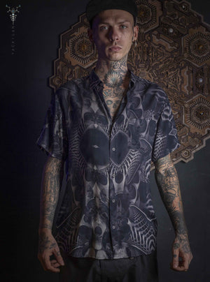 Shirt Men Half Sleeves / Bamboo_ SANDOKAN