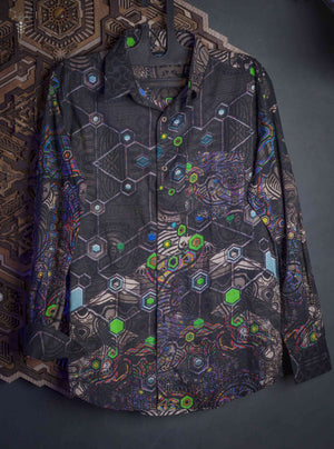 Shirt Men Long Sleeves / Cotton _ PSYGALAK