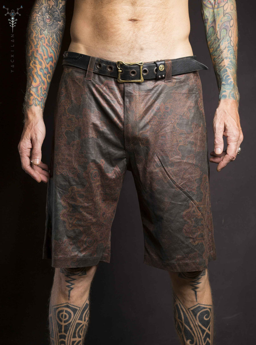 Skate Short Men / Fake Leather _ ATLANTHEON - Yacxilan Artwear