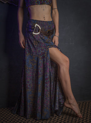Gipsy Long Skirt / Bamboo_DARK HUIRRAZ