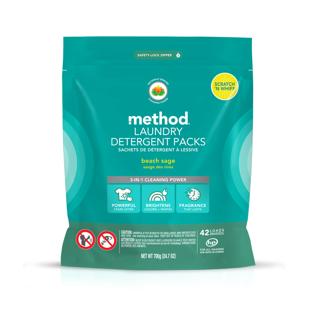 laundry detergent packs 42 loads - beach sage