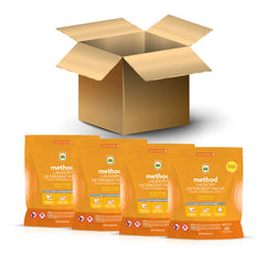 (carton of 4) laundry detergent packs 42 loads - ginger mango
