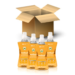 (carton of 4) laundry detergent 1.58L - ginger mango