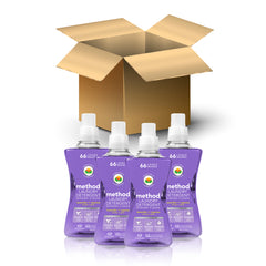 (carton of 4) laundry detergent 1.58L - lavender + cypress