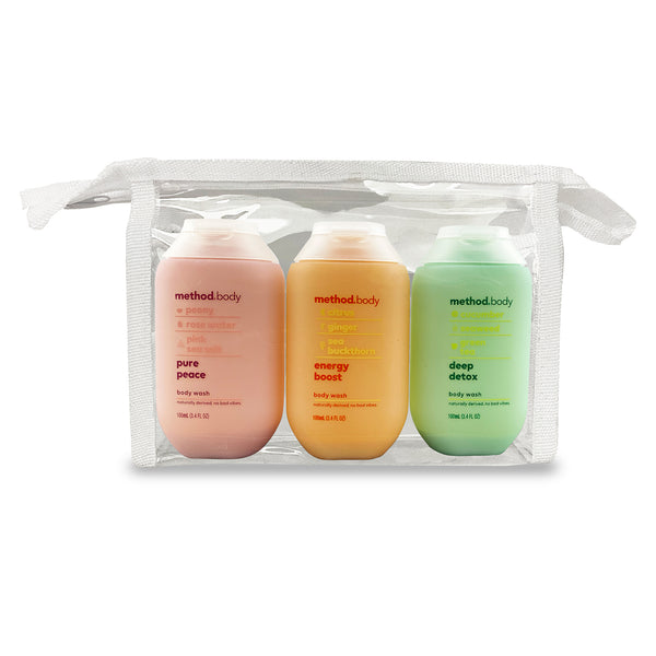women's travel size body wash kit 100ml