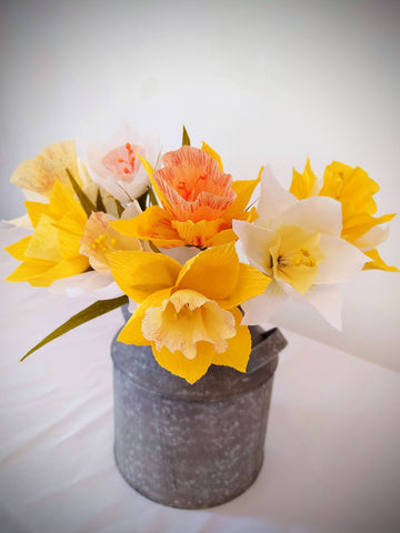 paper flowers Uk | daffodil paper flowers | paper flowers | how to make paper flowers | Dorset florist