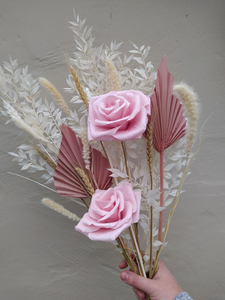 Dried Flower Bouquet | Blush Pink | Blush Pink Paper Roses