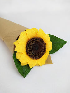 Handmade Paper Flowers | Paper Sunflowers | 1st Anniversary Wedding Gift | Realistic Paper Flowers | Eco Sustainable Flowers | Sunflower | Everlasting Flower - Parks Florist,Creating bespoke, handmade , realistic paper flowers in Dorset, UK. Unique paper flowers for weddings and special occasions such as first wedding anniversaries. Perfect alternative for sustainable/zero waste flower lovers