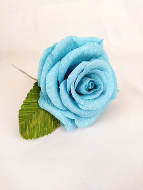 Handmade Paper Flowers | Paper Roses | 1st Anniversary Wedding Gift | Realistic Paper Flowers | Wedding Cake Flowers | Turquoise Rose | Eco Sustainable Flowers - Parks Florist, Creating bespoke, handmade , realistic paper flowers in Dorset, UK. Unique paper flowers for weddings and special occasions such as first wedding anniversaries. Perfect alternative for sustainable/zero waste flower lovers