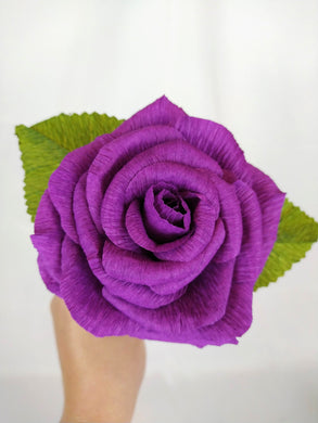 Handmade Paper Flowers | Paper Roses | 1st Anniversary Wedding Gift | Realistic Paper Flowers | Wedding Cake Flowers | Purple Roses | Eco Sustainable Flowers - Parks Florist, Creating bespoke, handmade , realistic paper flowers in Dorset, UK. Unique paper flowers for weddings and special occasions such as first wedding anniversaries. Perfect alternative for sustainable/zero waste flower lovers