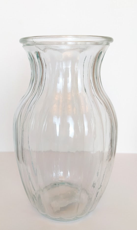 Glass Vase - Parks Florist, Bouquet Vase, Clear Flower Vase